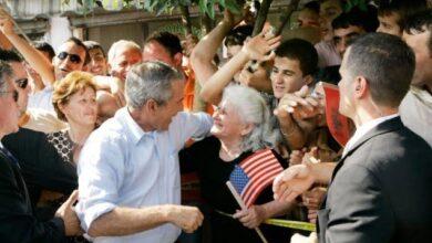 Photo of 13 vjet nga vizita e presidentit Bush në Shqipëri