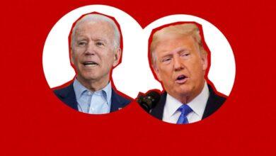 Photo of Trump dhe Biden në debatin e parë presidencial